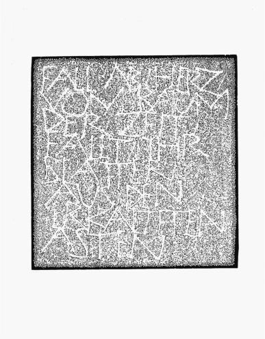 2004 - 40 x 42 cm - Fall ab, Herz, vom Baum deer Zeit ...Ingeborg Bachmann - II