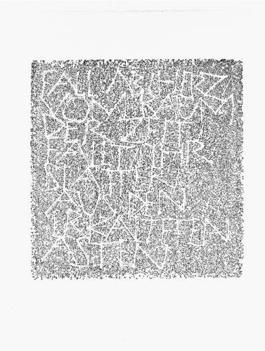 2004 - 40 x 42 cm - Fall ab, Herz, vom Baum deer Zeit ...Ingeborg Bachmann - III