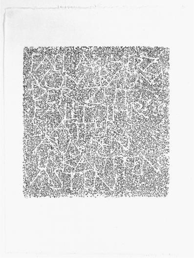 2004 - 40 x 42 cm - Fall ab, Herz, vom Baum deer Zeit ...Ingeborg Bachmann - IV