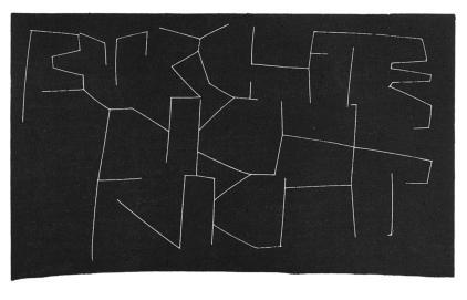 Holzschnitt 1999 - 35 x 21 cm - Japanpapier - Fürchte Dich nicht (Jeremias)